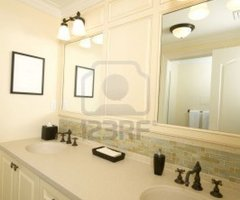 Detail Custom Tile Work Bathroom Double Vanity Royalty Free Stock Photo, Pictures, Images And Stock Photography. Image 682438.