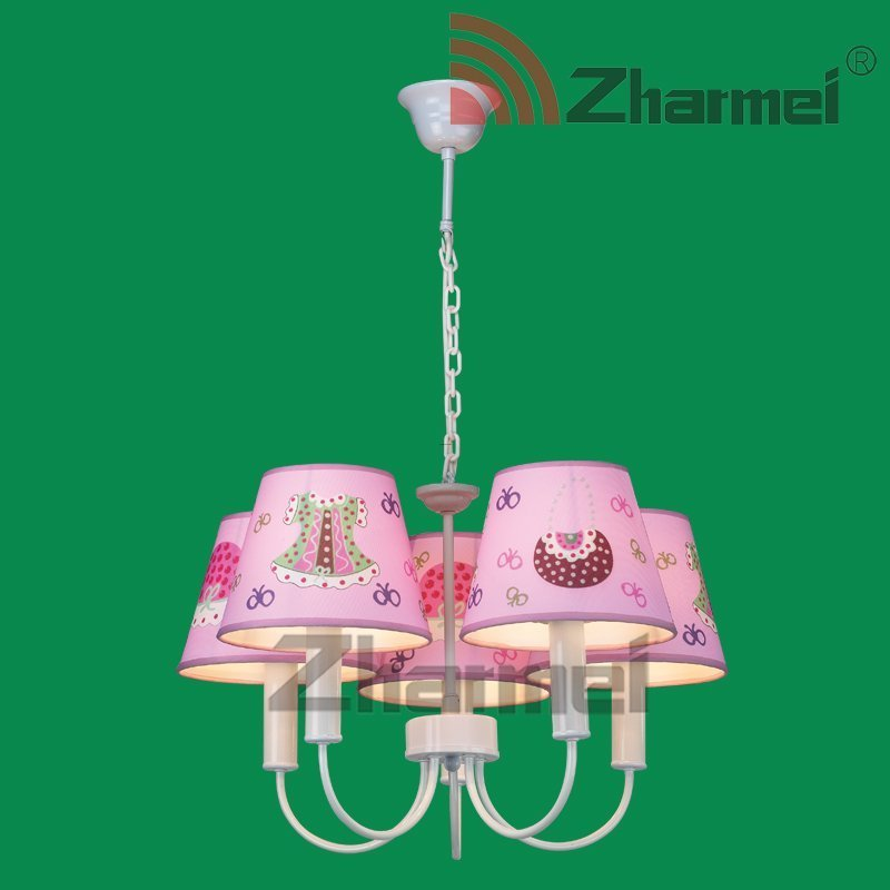 Kids Lighting, Clothes Pink Fabric Kids Wall Lamp