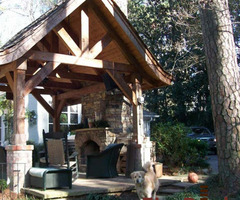 Fireplace On Small Covered Patio