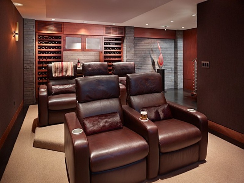 Contemporary Media Room Design Bookmark 15875