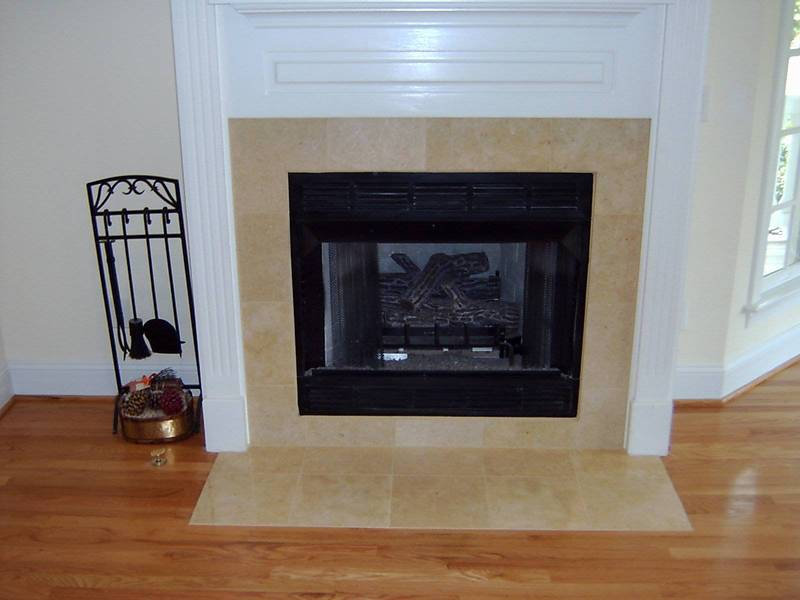 fireplace tile ideas casual cottage