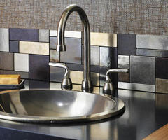 Kitchen. 30 Cozy And Modern Kitchen Backsplash Ideas: Rectangular Glass Tiles Backsplash ~ Ciiwa