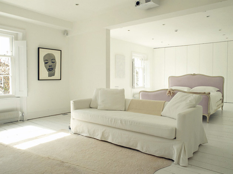 White Apartment Decoration, Interior Decorating Ideas Westbourne Park Villas Minimalist White Apartment