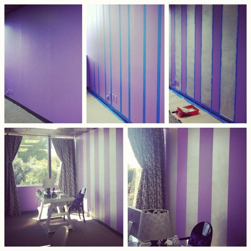 Paint Stripes On Walls, Painting Stripes On A Wall: Our Latest Office Update!