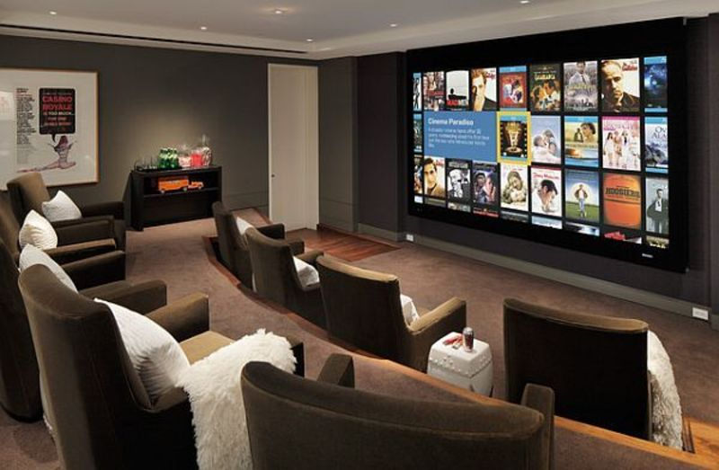 9 awesome media rooms designs decorating ideas for a for Home tv room design ideas