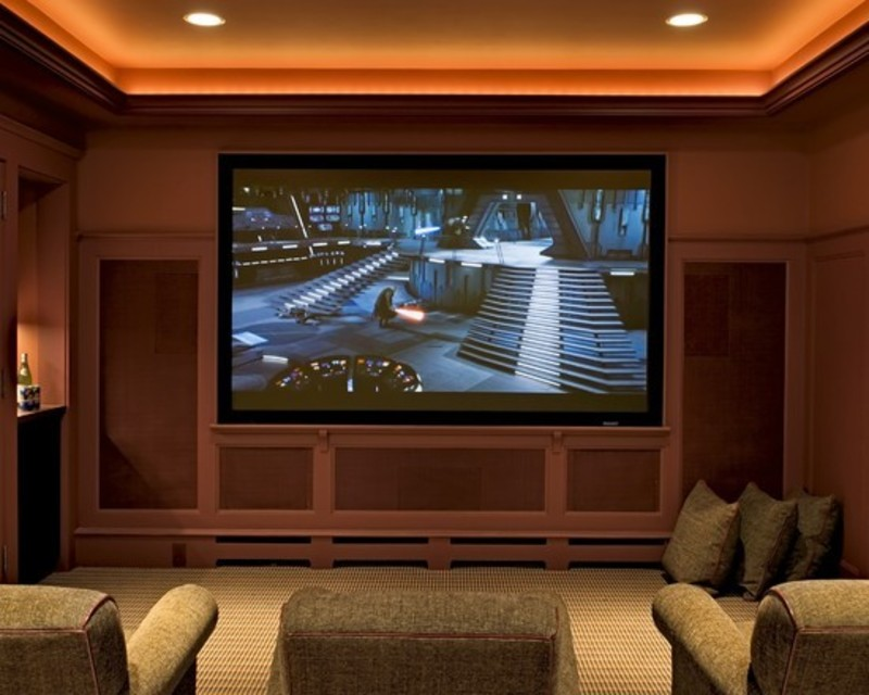 Media Room Ceiling Lighting Design, Pictures, Remodel, Decor And ...