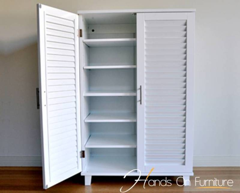 Brand New White Louvre Door Shoe Storage Cabinet/Cupboard / design ...