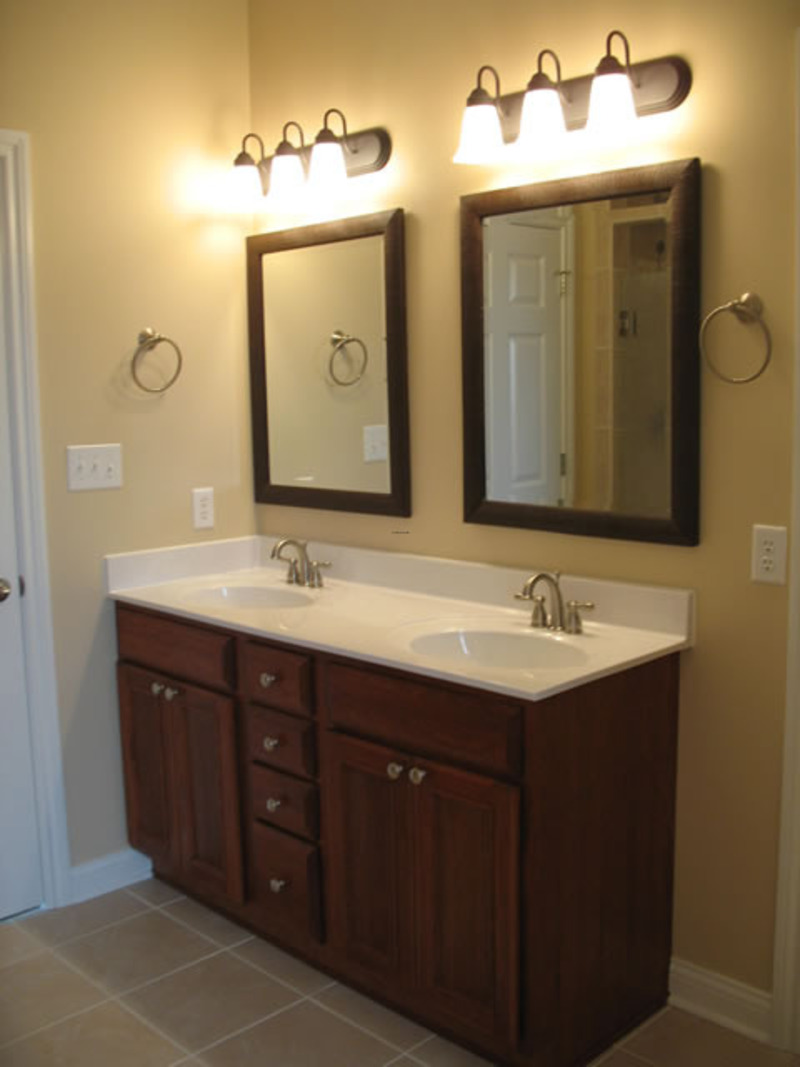 Upgrading one bathroom vanity sink to double sinks - Pictures of vanities in bathrooms ...