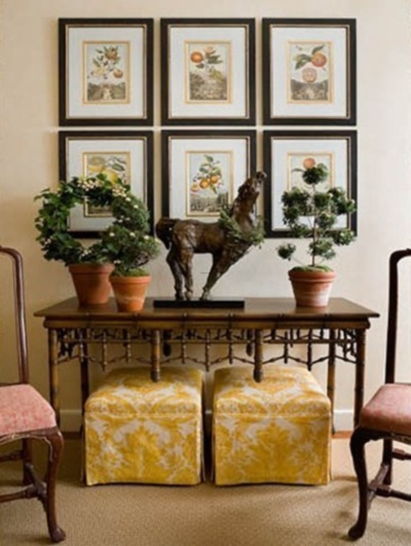 Foyer Table Decorating Ideas, Simply Irresistible...Designs!: Softening Your Table