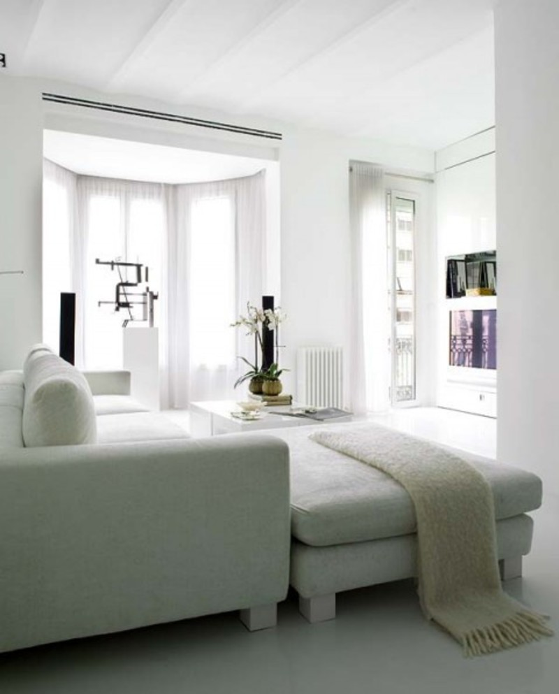 Airy Apartment Design, Duplex Alicante White Open And Airy Apartment Design
