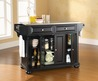 Crosley Furniture Alexandria Stainless Steel Top Kitchen Island In Black Finish From Mercantila.Com