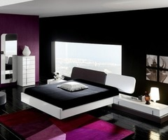A Bright Beautiful Wall Paint At Contemporary Bedroom Design