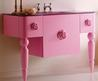 Retro Modern Feminine Bathroom Furniture