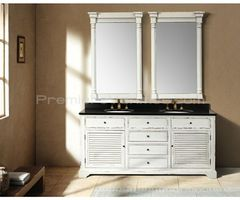 71 Inch Antique White Finish Double Vanity