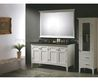 Modern White 60 Inch Double Vanity With Black Top