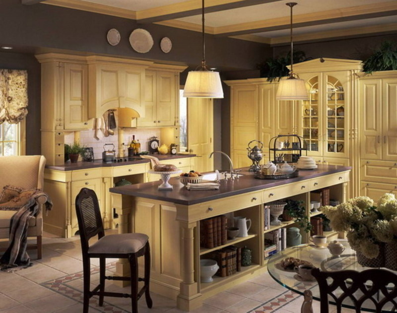 Country Kitchen Decor: Elegant French Country Kitchen Decorating Ideas Kitchen