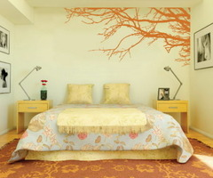 Decorating Bedroom With Modern Wall Stickers Paint Designs Ideas