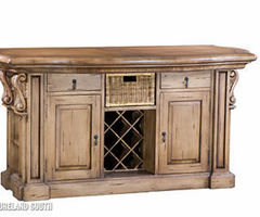Bramble Furniture Roosevelt Painted Kitchen Island Home Pub Bar W Corbels