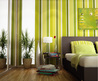 Green Bold Striking Striped Wall Painting For 2013 Design Note