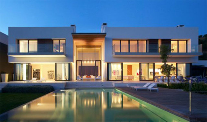 Modern Dream House Design Layout With A Swimming Pool ...