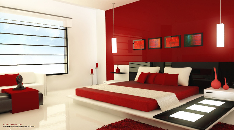 Red White Black Bedroom, Color Your World: Inspiring Red, White And Black Bedroom Concept