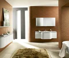 Ultra Modern Bathroom Vanity And Cabinets With Round Shaped