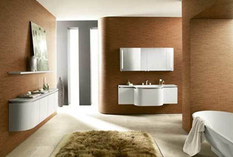 Ultra Modern Bathroom Vanity And Cabinets With Round