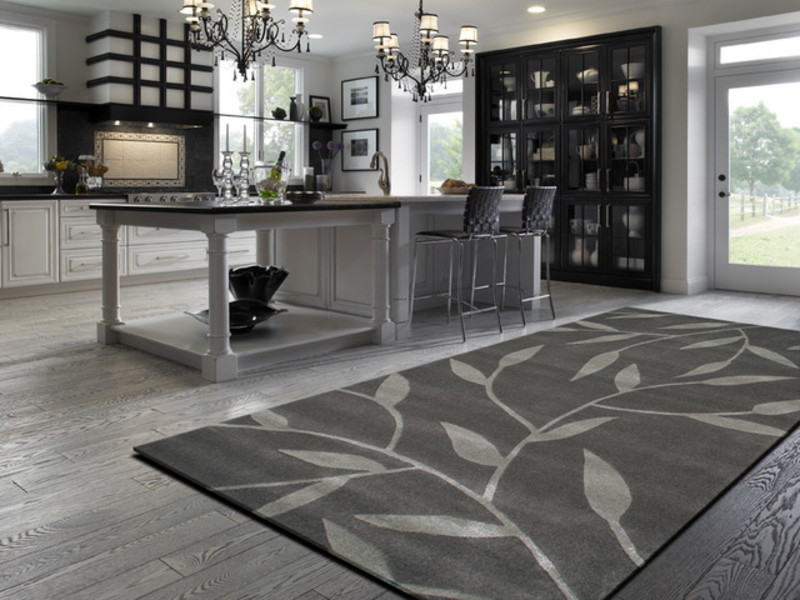 Contemporary Kitchen Rugs, Vineworx Rug In A Contemporary Kitchen