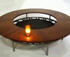 Wood Walled Round Table Design Center Surrounding Mysterious Hollow