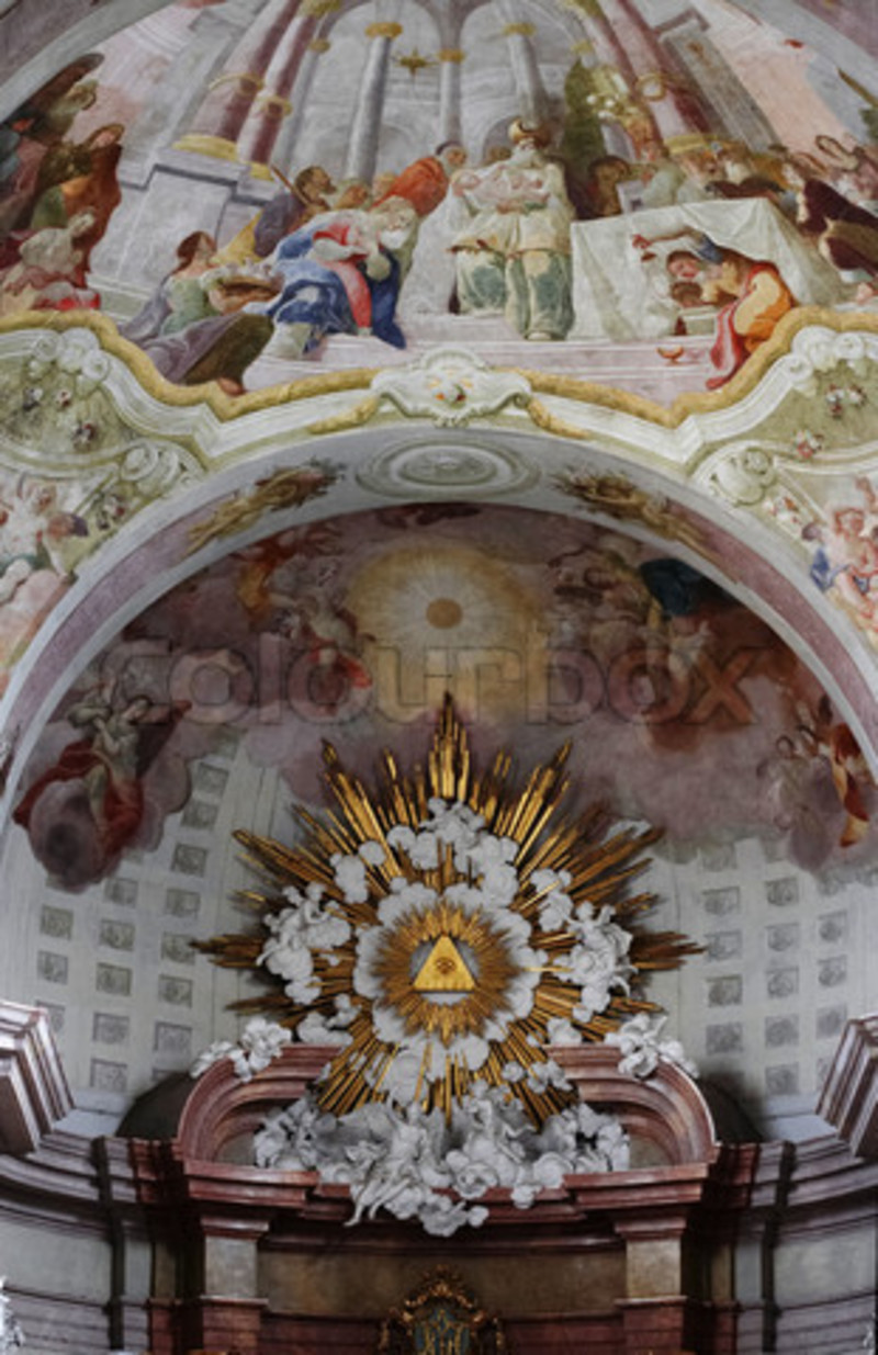 Church Interior Decoration, Image Of 'Interior Decoration Of The Church Of The Annunciation