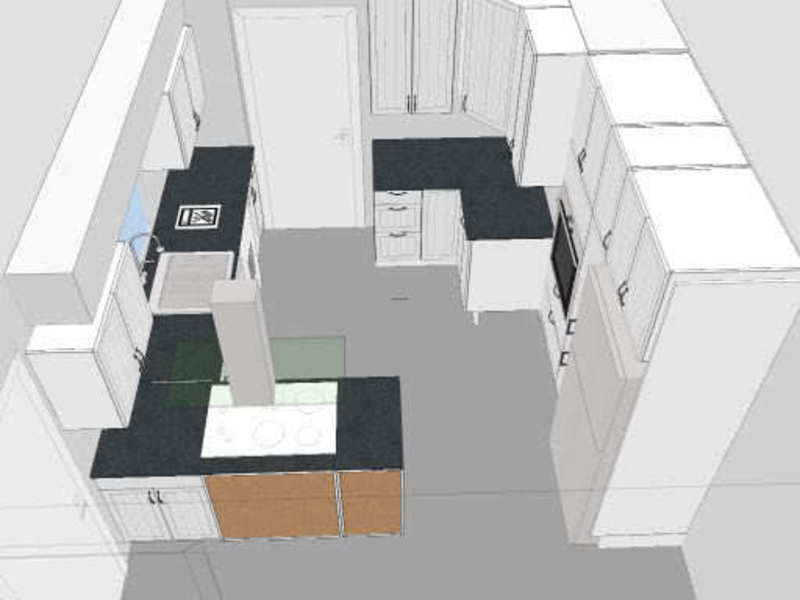 Small Galley Kitchen Designs, Small Galley Kitchen, First Layout