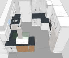 Small Galley Kitchen, First Layout