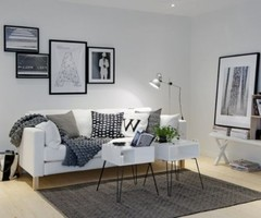 White Apartment Decoration Mix With Modern Furniture