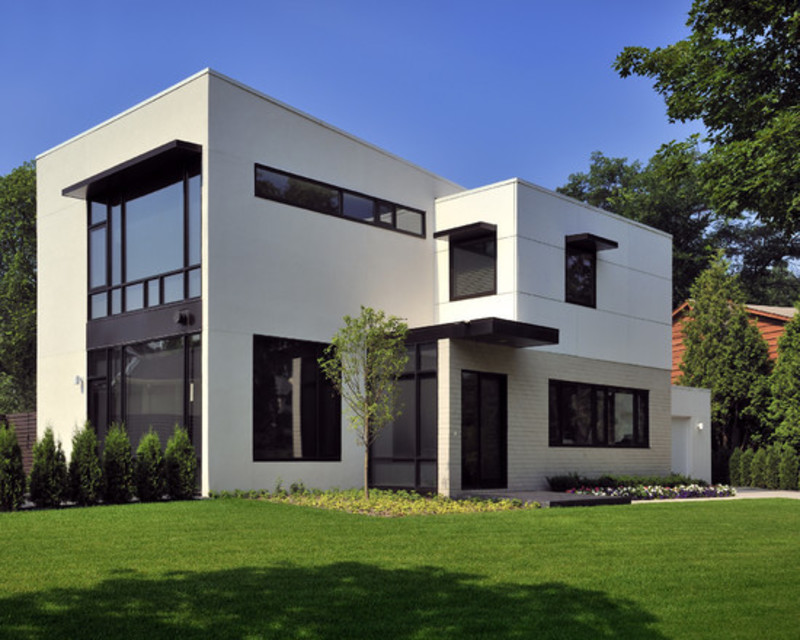 Urban cubism flat with the high class privacy contemporary for Elevated modern house design