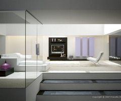 13 Ultra Modern Living Room Designs By Presotto Italia Spacious White Living Room Design With Black Tv Wall Unit – Home And Interior Design Ideas