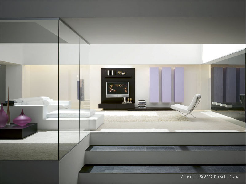 13 Ultra Modern Living Room Designs By Presotto Italia Spacious White Living Room Design With