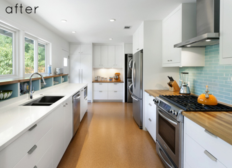 before and after modern galley kitchen design bookmark