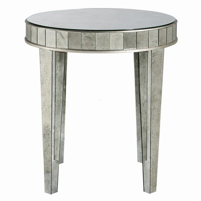 Mirrored Side Table, Bernhardt Estelle Mirrored Round Side Table