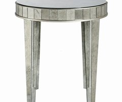 Bernhardt Estelle Mirrored Round Side Table