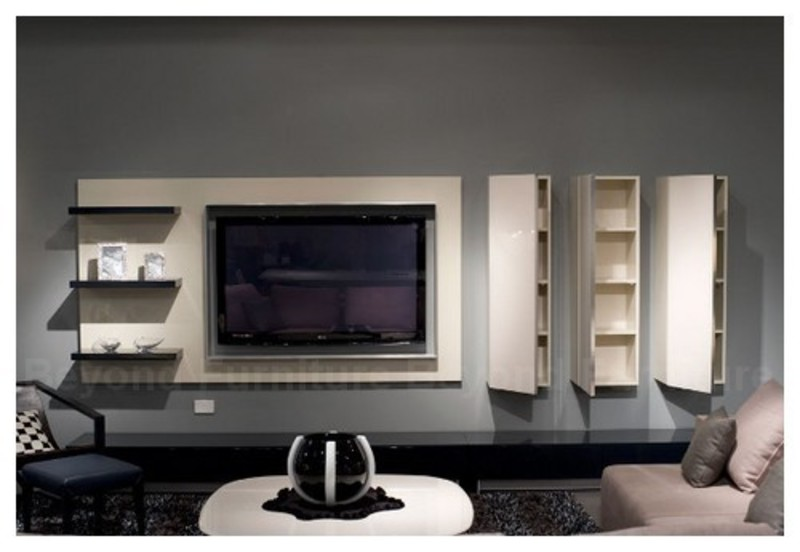 Sample photos of modern tv cabinets with storage system for Armoire tv design