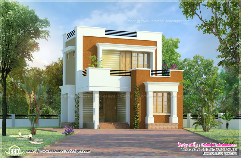 Small House Designs, Cute Small House Design In 1011 Square Feet
