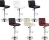 Set Of 2 Bar Stools Leather Modern Hydraulic Swivel Dinning Chair Barstools