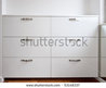 Modern White Shoes Cabinet Stock Photo 53148337