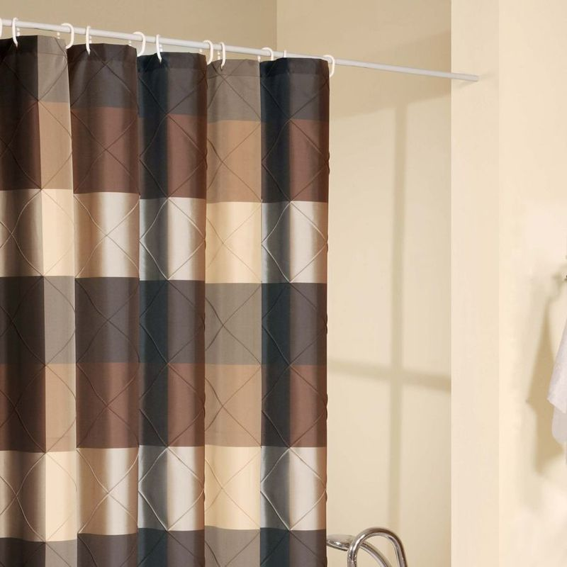 Orange And Brown Curtains Red and Aqua Shower Curtain
