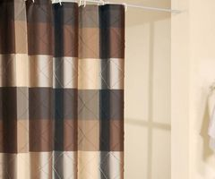 tagged with pink and brown shower curtain design bookmark. Black Bedroom Furniture Sets. Home Design Ideas