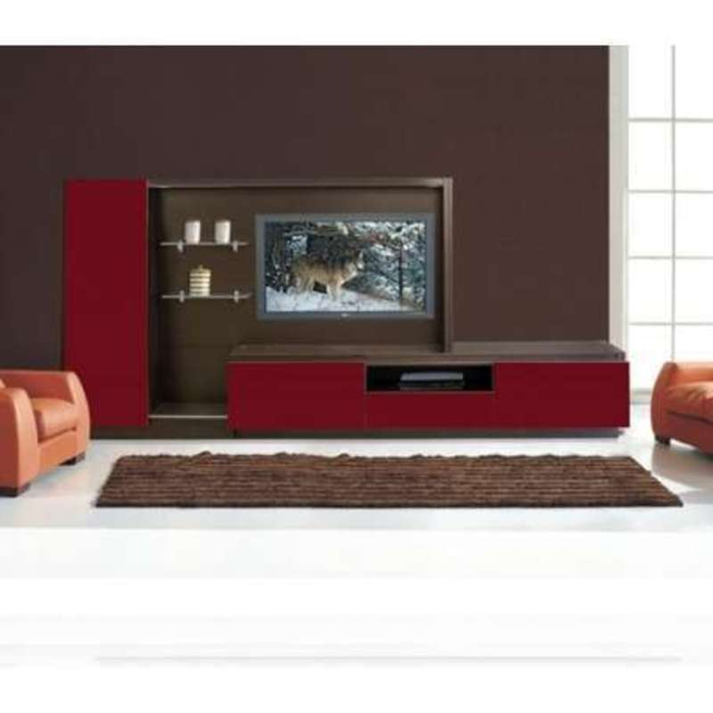 Luxury wall mounted modern tv cabinets in black with glass for Wall mounted tv enclosure