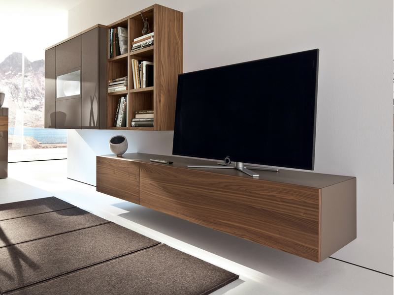 Wall Mounted Tv Cabinet, Low Lacquered Wall