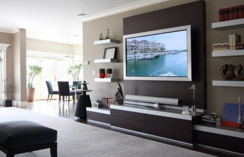 19 Wall Mounted Tv Designs Decorating Ideas Furniture