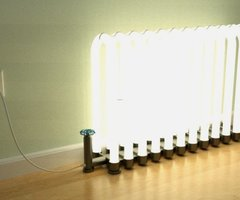 Unique Lamp Shaped Like Radiators – Radiant Floor Lamp