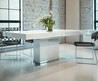 Modloft Astor Dining Table In White Lacquer